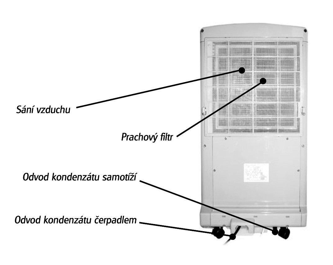 Odvlhčovač AMCOR D810 - 2,0kW,plocha 20m2,na podlahu