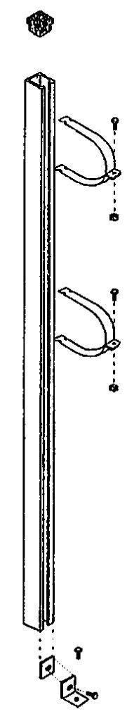 Držák pro ventilové baterie, výška 2 m, pro baterii d= 110 mm