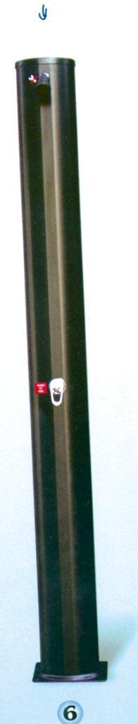 Solární sprcha ovál, 44 l, materiál aluminium