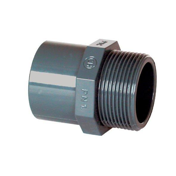 "PVC tvarovka - Přechodka 50–40 x 11/2"" ext."