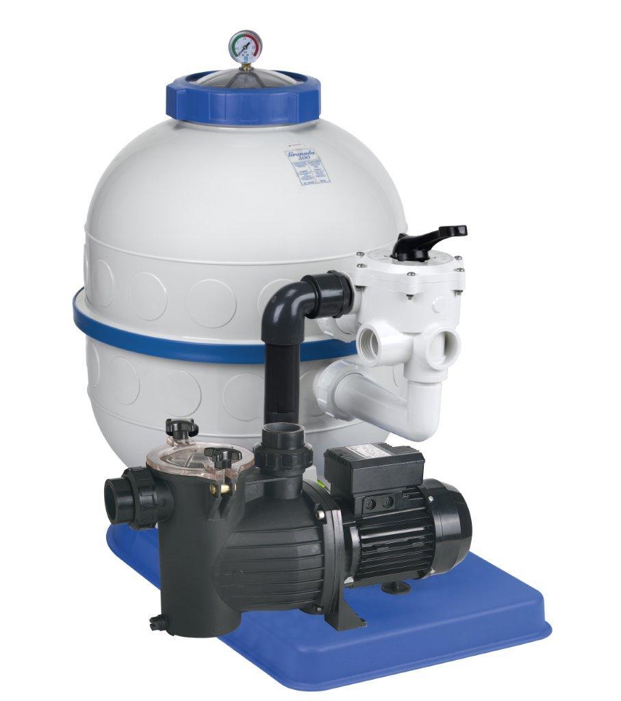 Filtrační zařízení - Granada KIT 600, 16 m3/h, 230V, 6-ti cest. boč. ventil, čer