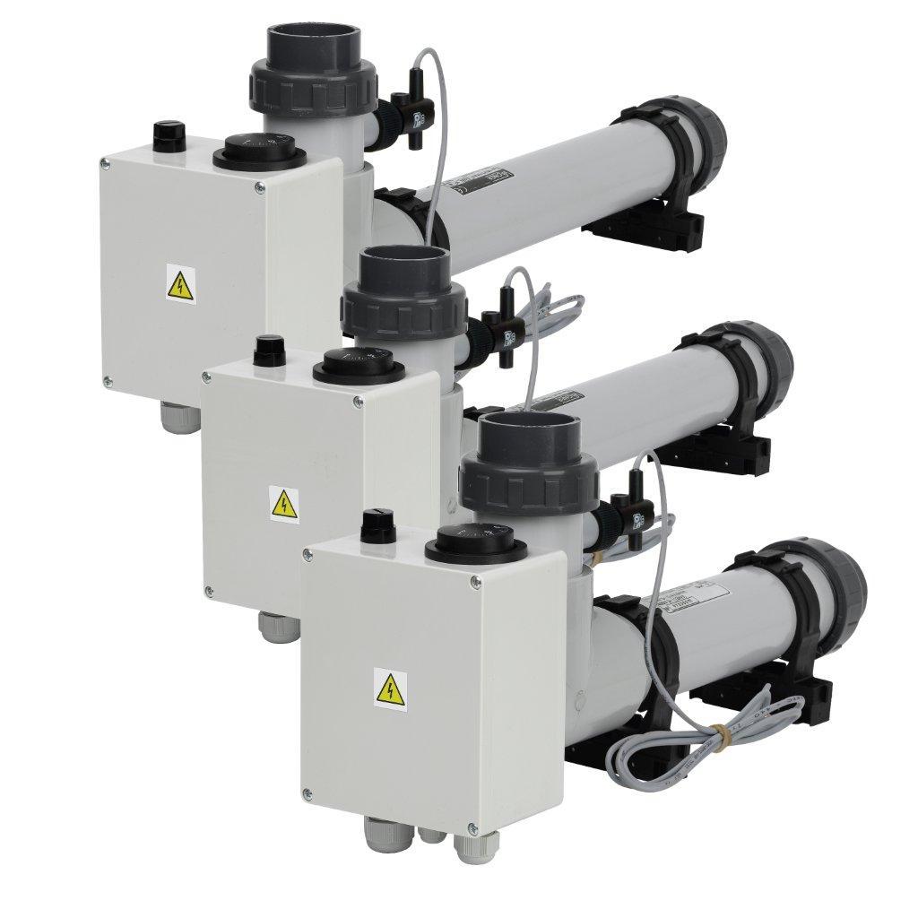 Elektrické vykurovanie EOVp-3, 3 kW, 3 x 230 V, plast s el. prietokovou klapkou