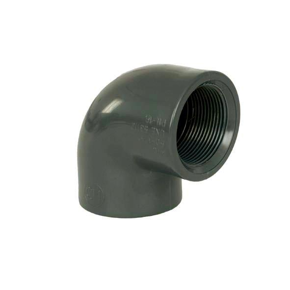 """PVC tvarovka - Úhel 90° 40 x 11/4"""" int."""