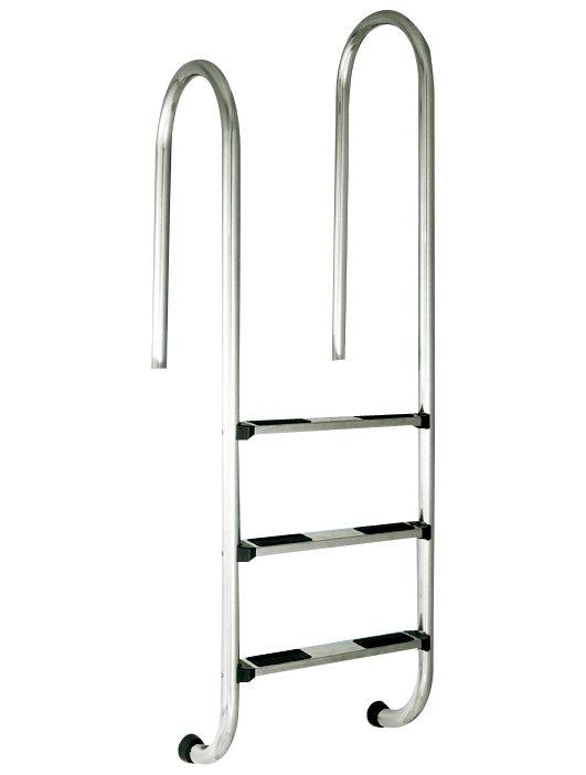 Žebřík nerez RVM–3 stup. s rozdílnou výškou madel–Muro (Slim),AISI 304
