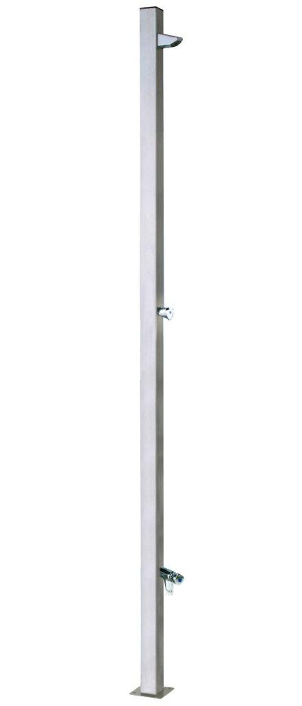 Bazénová sprcha Tetra s omývání nohou, materiál nerez AISI 304