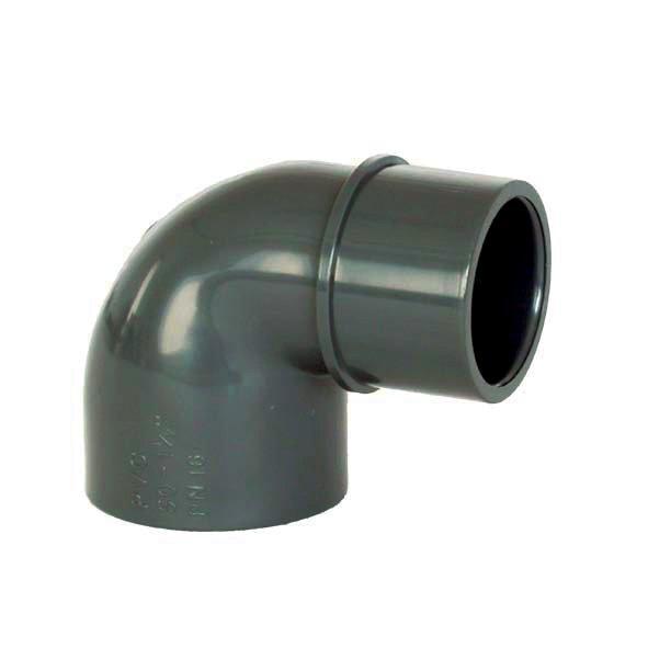 PVC tvarovka - Úhel 90° 63 int. x 63 ext.