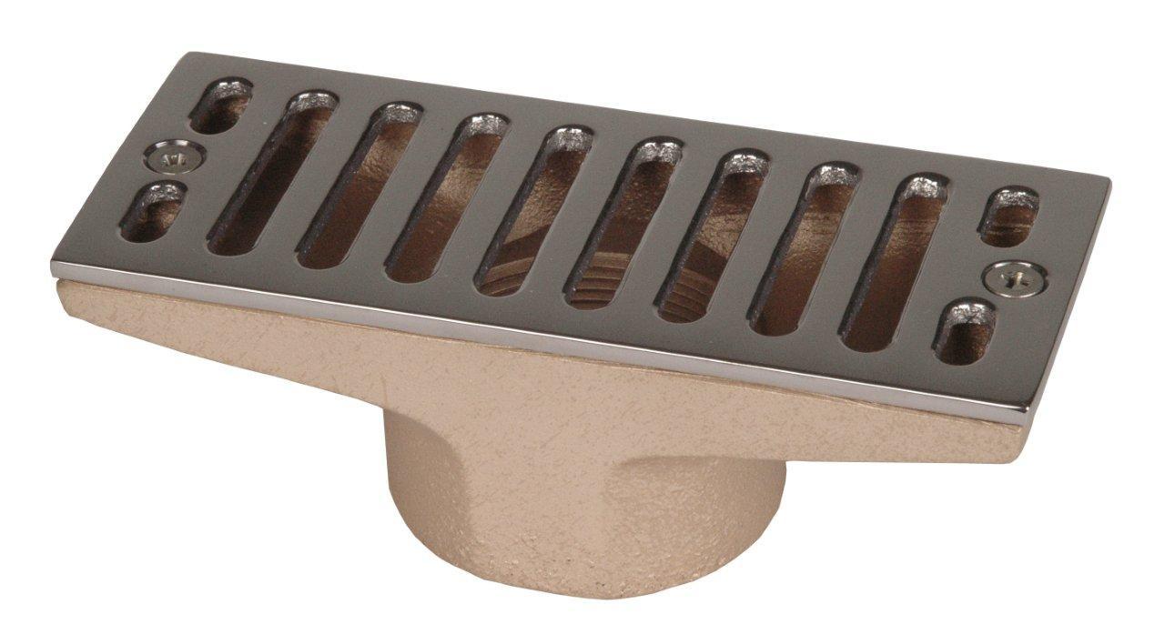"""Výpust do přelivového žlábku – 160 x 60 mm, 2"""" napojení."""
