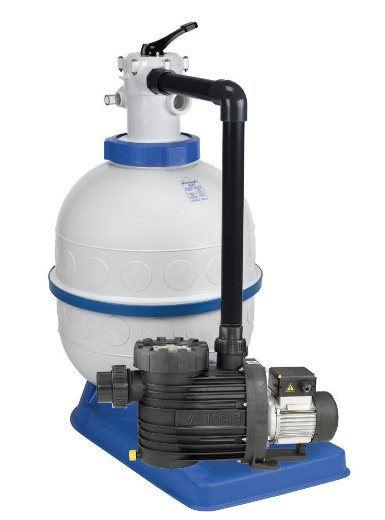 Filtrační zařízení - Granada KIT 600,  14 m3/h, 230V, 6-ti cest. top-ventil, čer