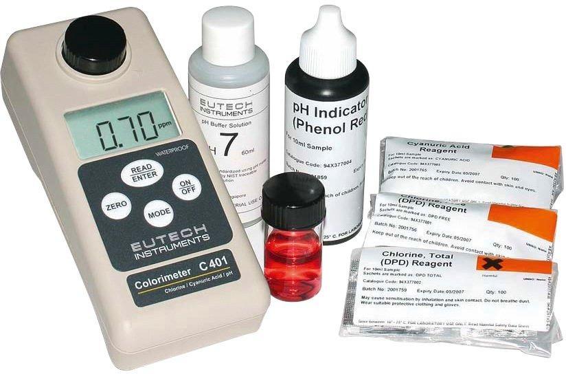 Tester fotometrický – pH, volný/celkový chlor