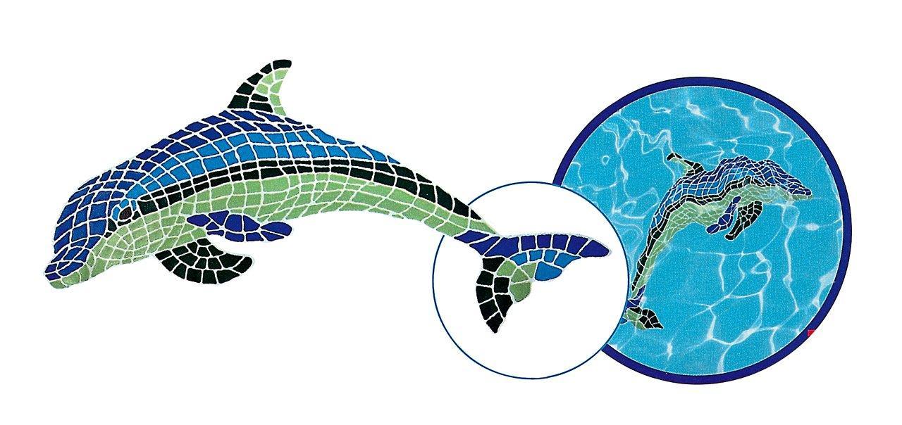 Mozaika DLW - ozdobný Delfín Nestor - 1,6 x 0,6 m