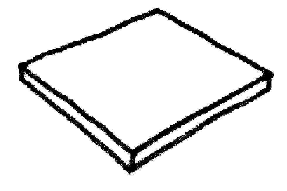Dlažba Louisiane – dlažba 500 x 500 x 35 mm, mandl. zelená
