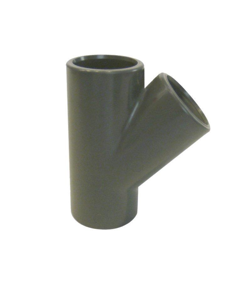 PVC tvarovka - T-kus 45° 50 mm