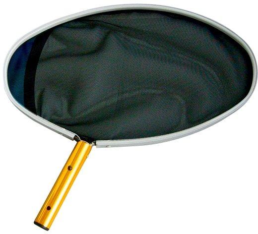 Síťka hladinová oválná excentrická s ALU rámem – černá