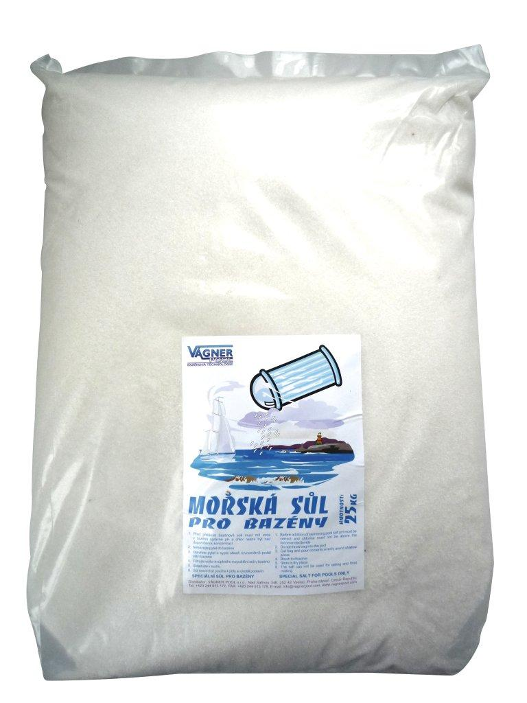 Bazénová sůl MOŘSKÁ, balení 25 kg