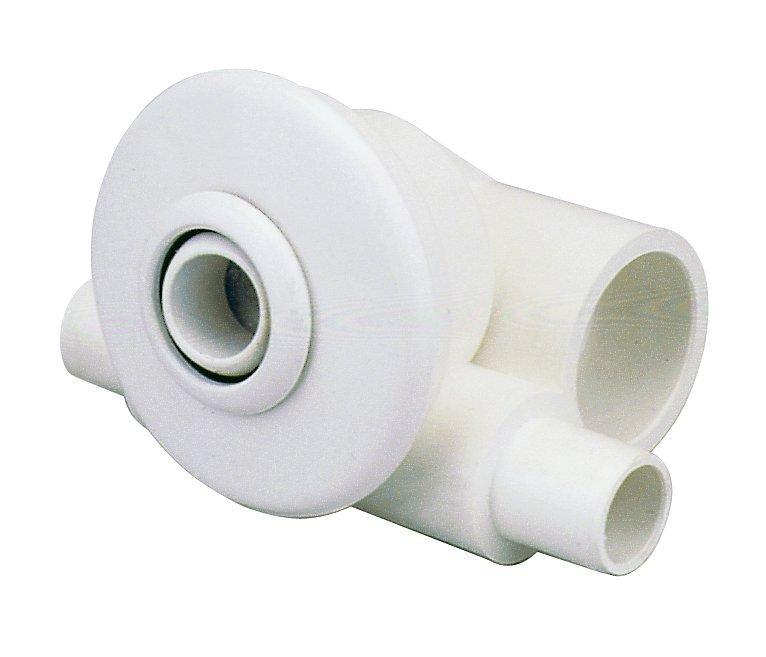 Hydromasážní tryska - Minitryska 24 ABS (bílá), d= otvoru 23  mm
