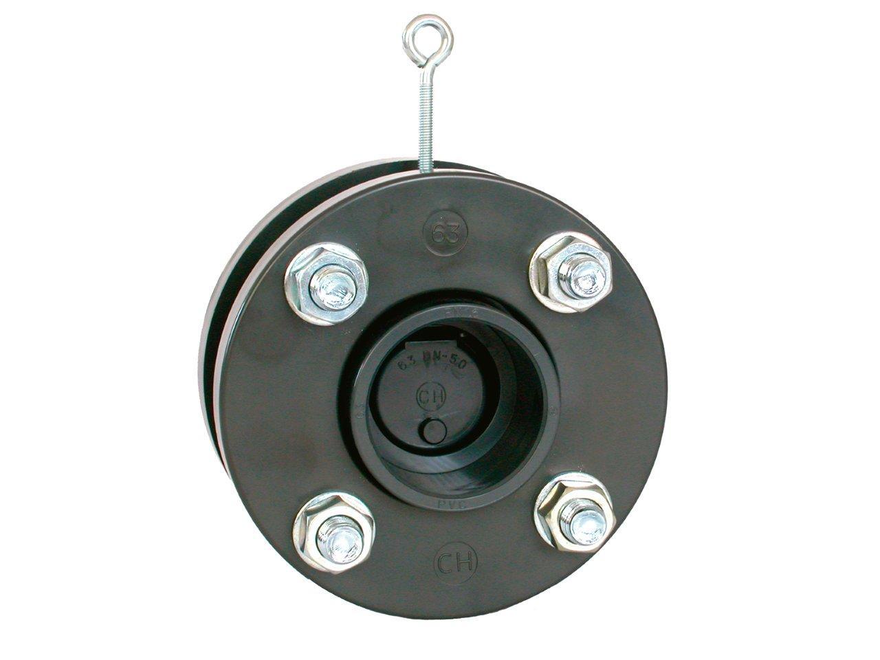 Zpětná klapka s přírubami a s manžetami 140 mm