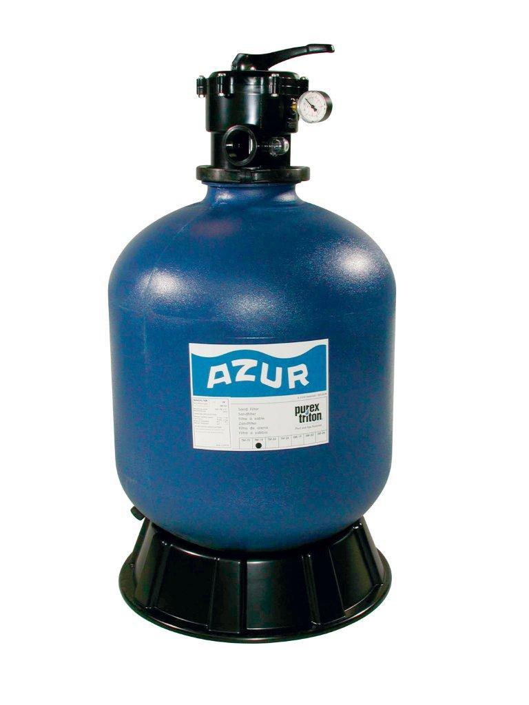 Filtrační nádoba AZUR 480 mm, 9 m3/h, 6-ti cestný top-ventil