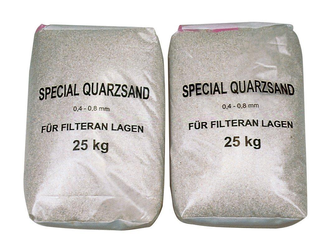 Filtrační písek - frakce 0,6–1,2 mm – baleno po 25 kg.