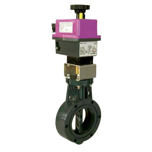 Uzavírací klapka s el. pohonem 160 mm