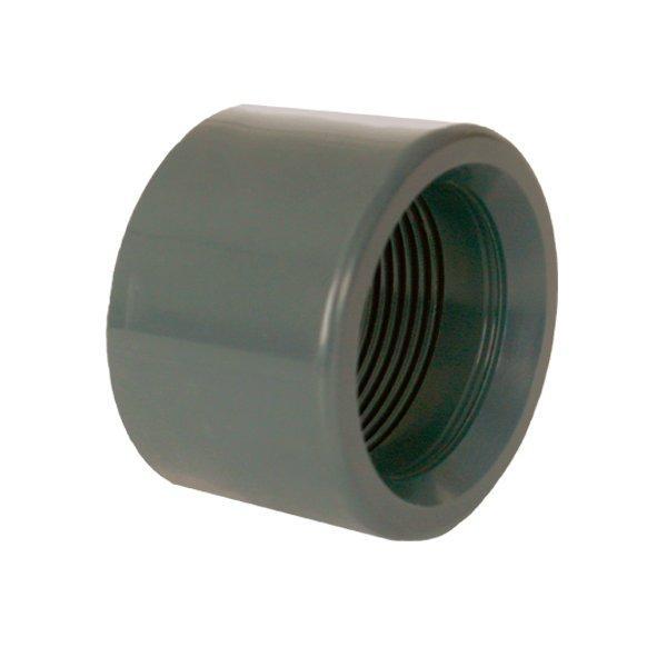 """PVC tvarovka - Redukce krátká vkládací se závitem 90 x 21/2"""" int."""