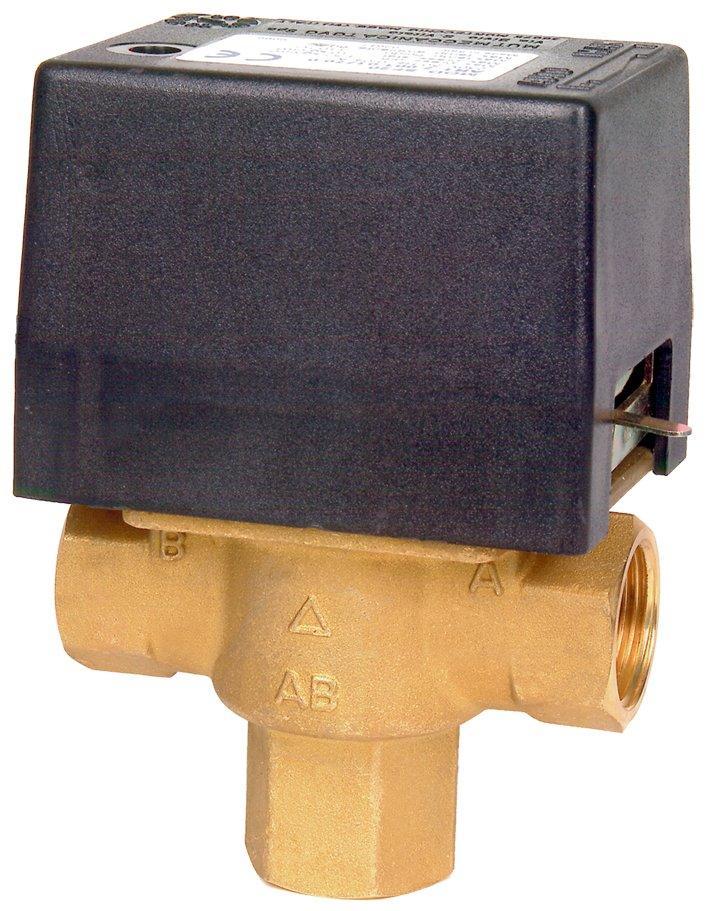 """Elektrický trojcestný ventil. Připojení 1"""" in 230 V"""