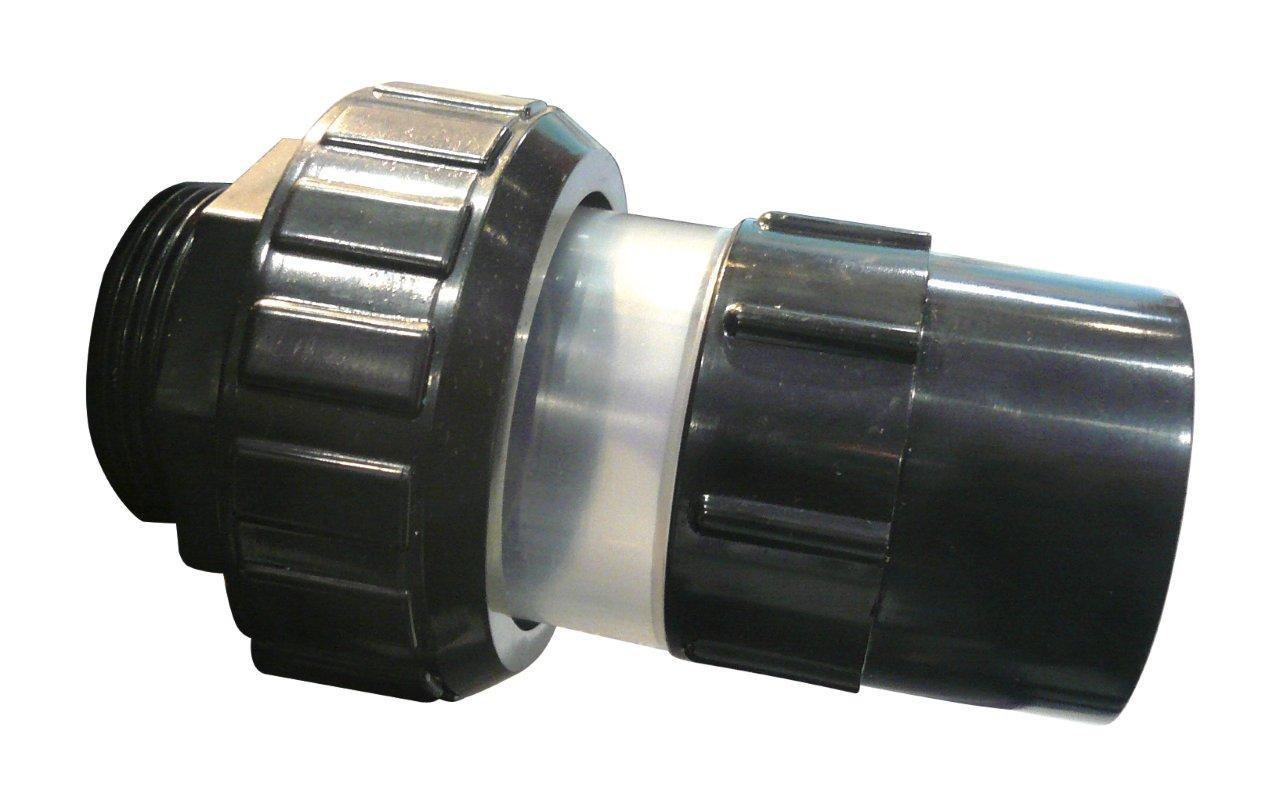 """PVC tvarovka - Šroubení 50 x 11/2"""" ext., s průhlednou částí"""