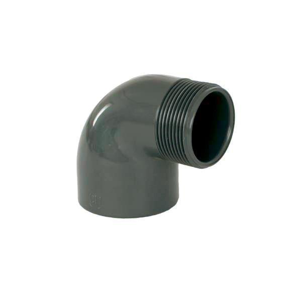 """PVC tvarovka - Úhel 90° 50 x 11/2"""" ext."""