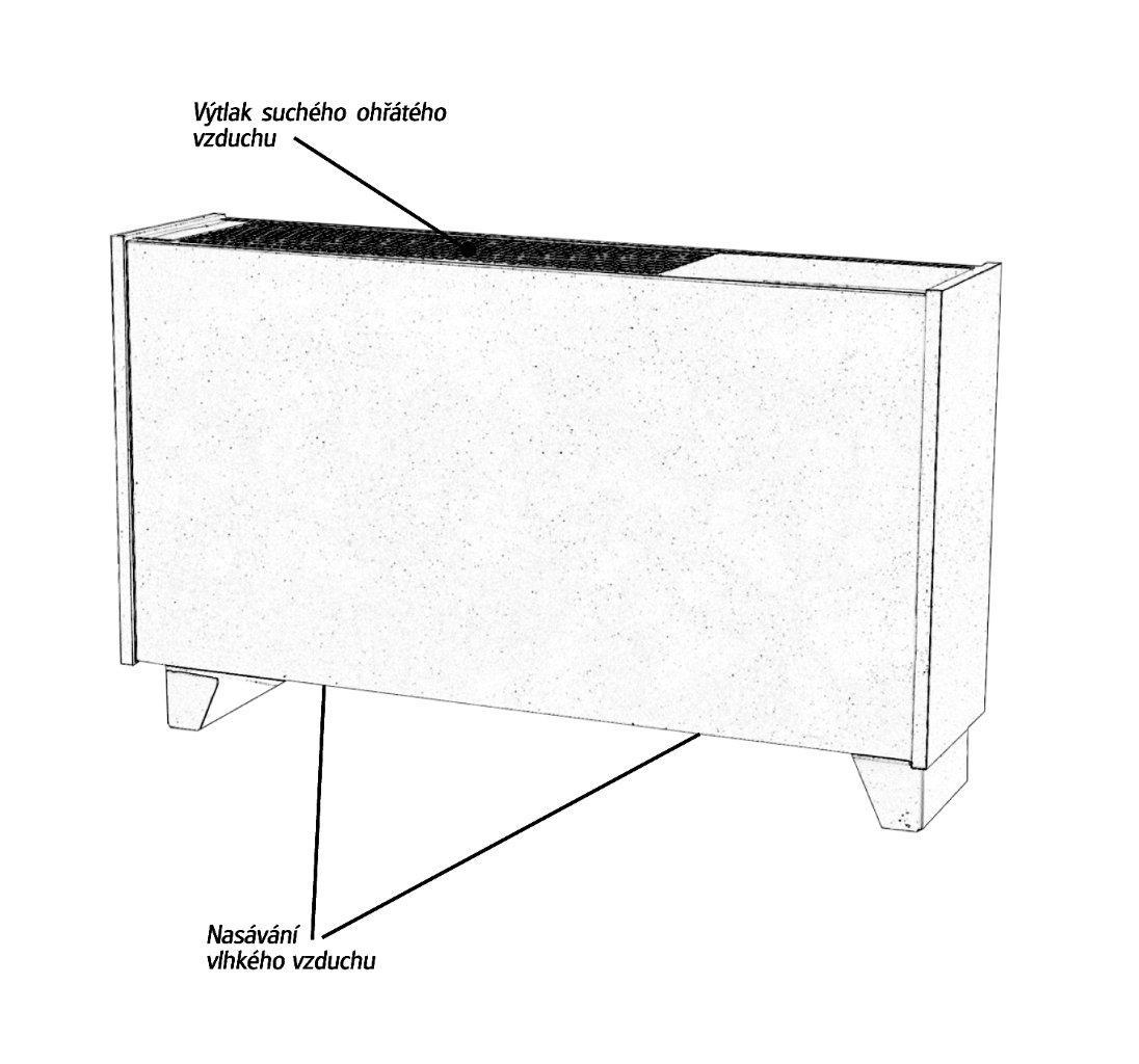 Odvlhčovač AMCOR D1000 - 3,2kW,plocha 42m2,na podlahu