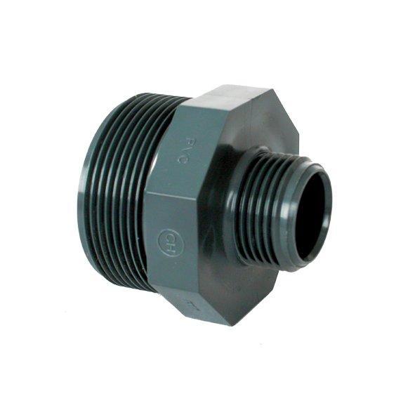 """PVC tvarovka - Dvojnipl redukovaný 21/2"""" x 2"""" ext."""