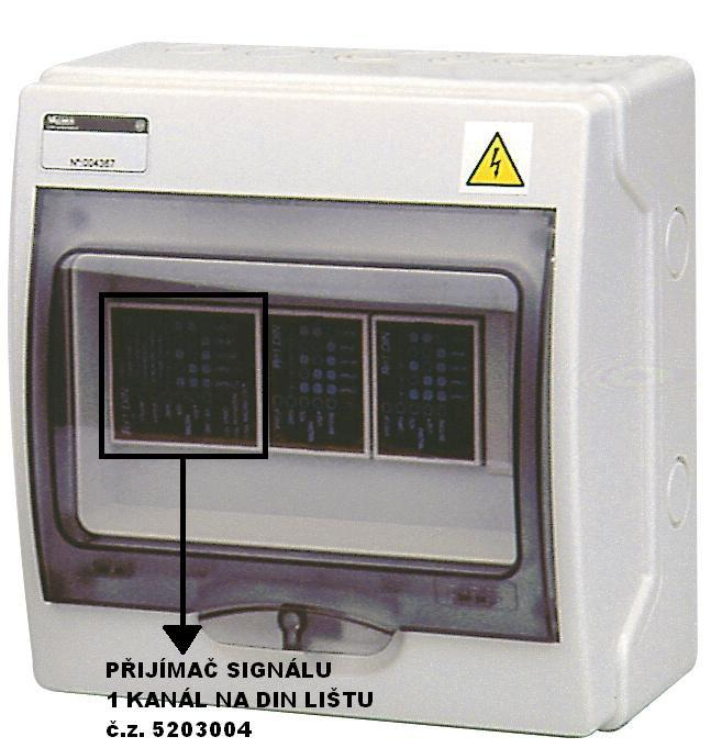 Přijímač signálů – jednokanálový (pro DIN lištu)