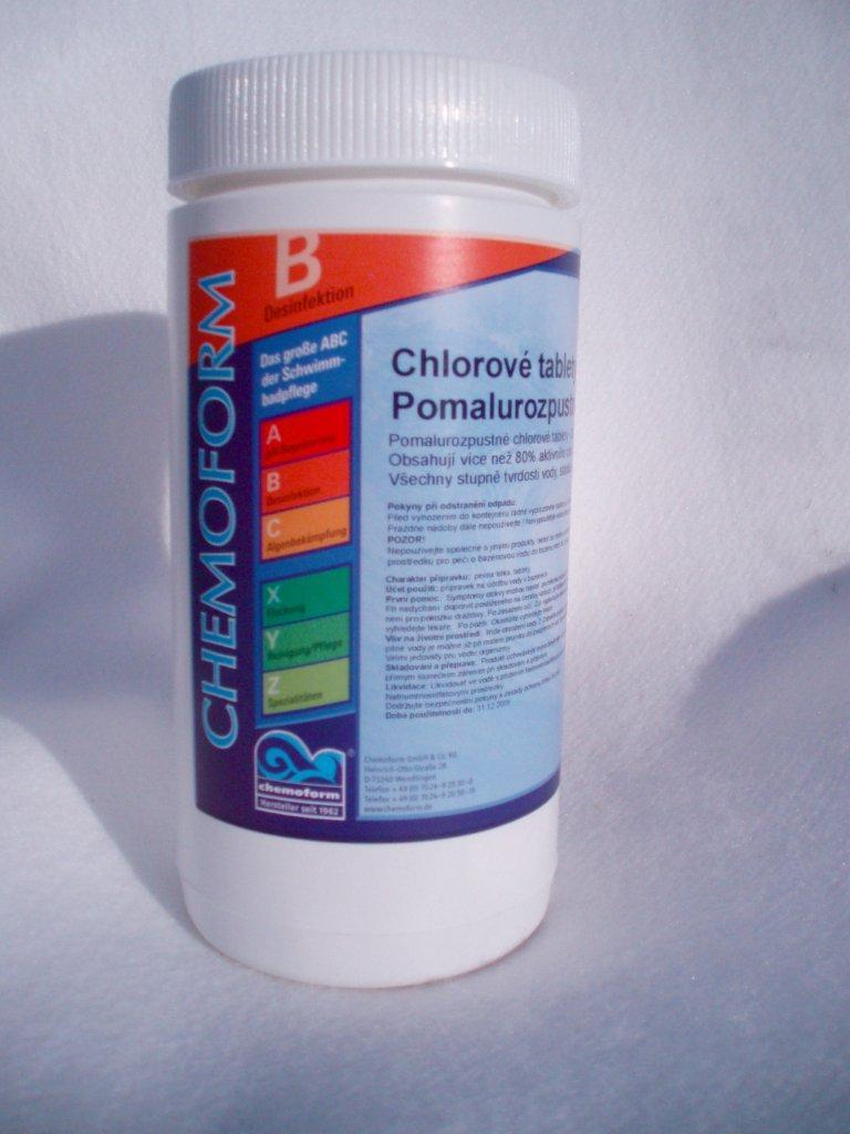 Chlórové tablety Maxi 1 kg, tableta 200 g, pomalurozpustné