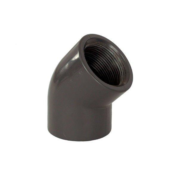 """PVC tvarovka - Úhel 45° 50 x 11/2"""" int."""