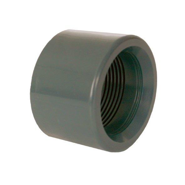 """PVC tvarovka - Redukce krátká vkládací se závitem 63 x 11/2"""" int."""