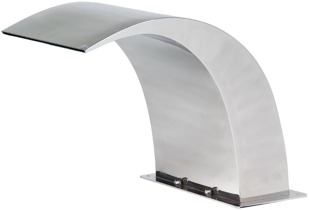Chrlič - Delfín 320mm,připojení 75mm,zcadlový lesk,nerez AISI 316
