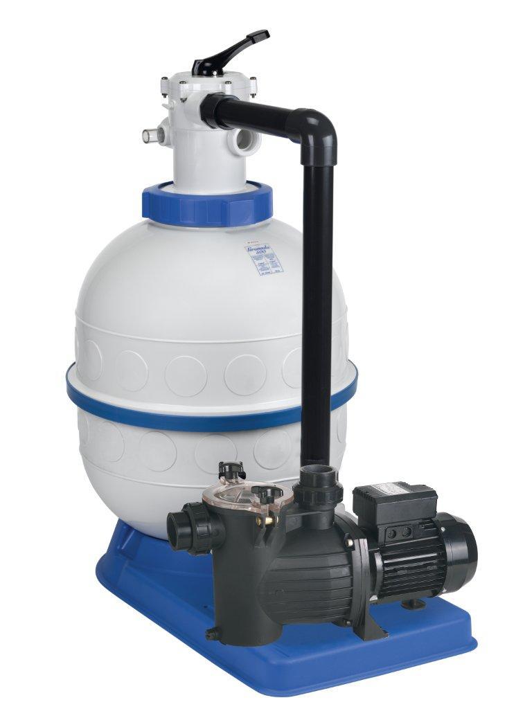 Filtrační zařízení - Granada KIT 600,  16 m3/h, 230V, 6-ti cest. top-ventil, čer