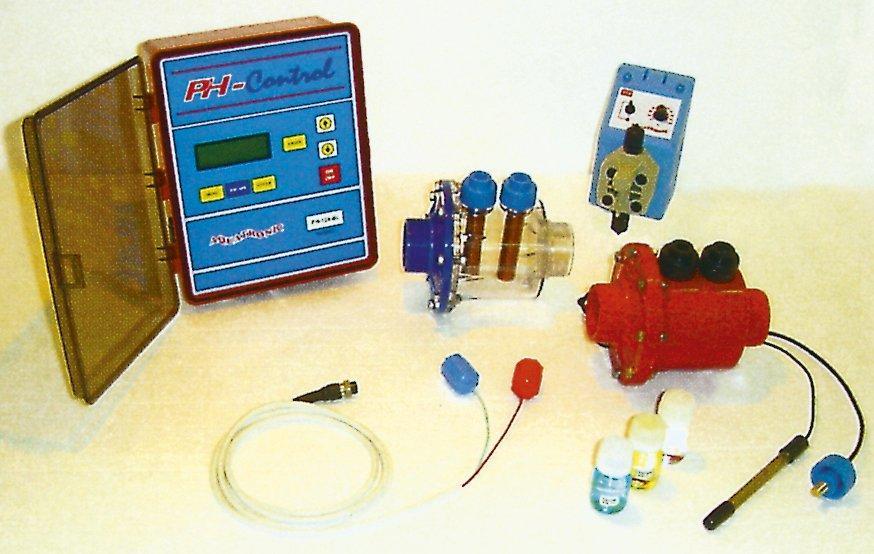 Měřící stanice Aqua-Sky pH+/pH-, 70-120m3,4 elektrody, bez čerpadel