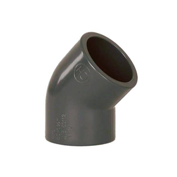 PVC tvarovka - Úhel 45° 40 mm
