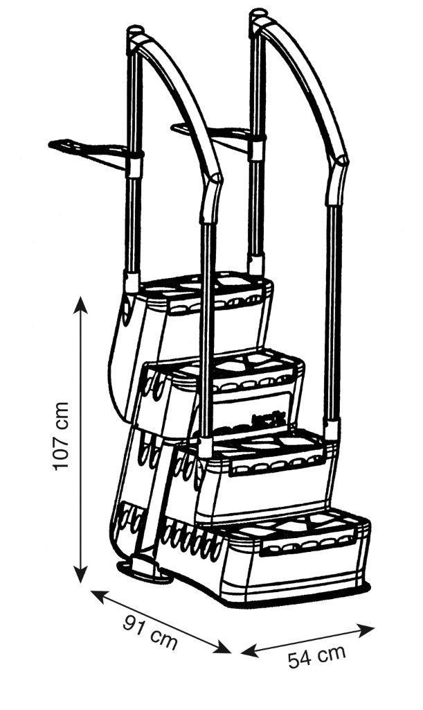 Schodiště Salsa - vnitřní, 4 stupně