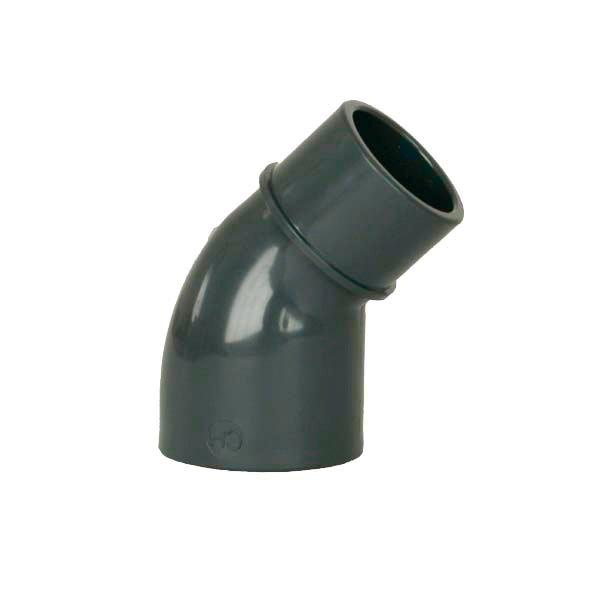 PVC tvarovka - Úhel 45° 63 int. x 63 ext.