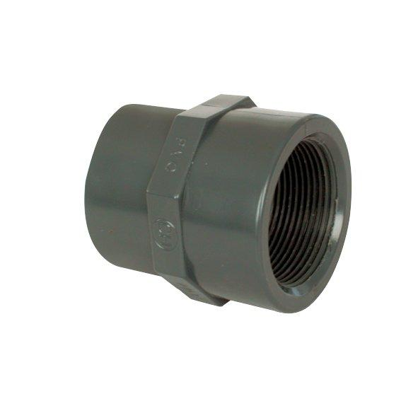 """PVC tvarovka - Mufna přechod. red. 75--63 x 23/4"""" int."""