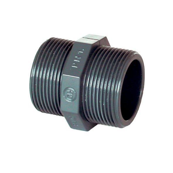 "PVC tvarovka - Dvojnipl 1/2"" ext."