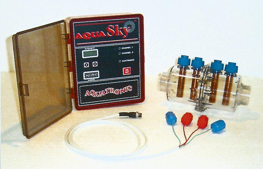 Měřící stanice Aqua-Sky bezchlor. úprava, 70-120m3,4 elektrody