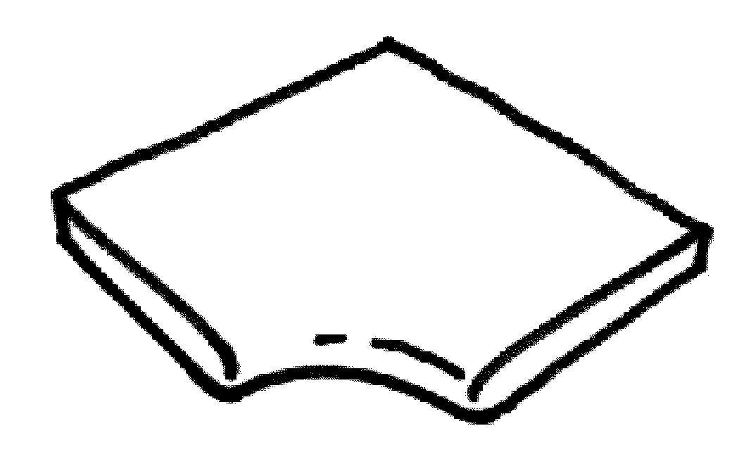 Dlažba Sahara - rohová plochá dlaždice R 150 int., zaobalená, 1 ks