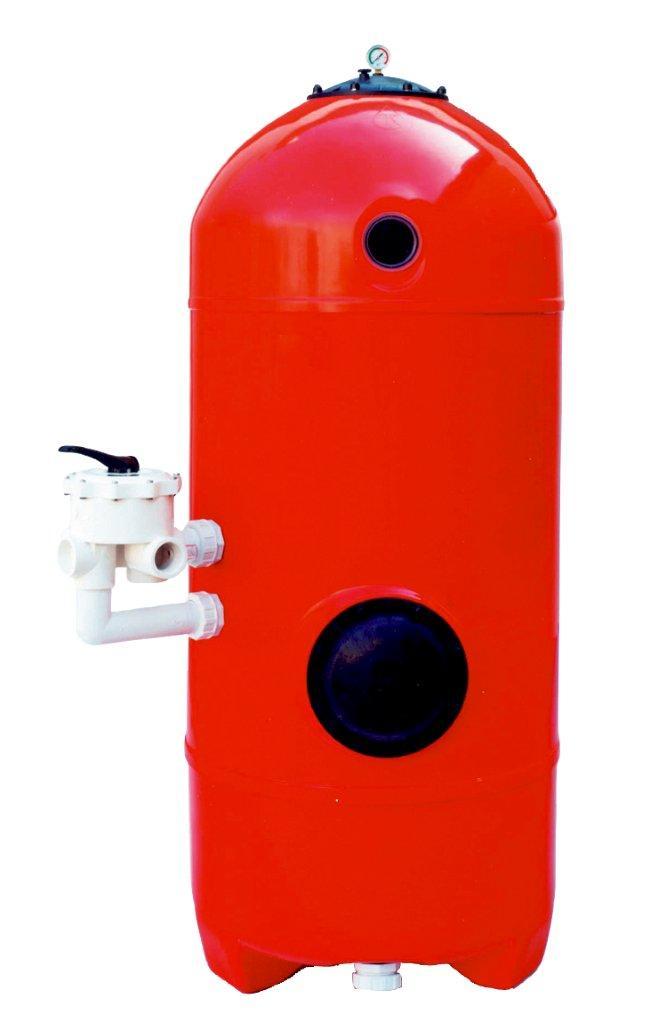 Filtr San Sebastian 900mm,6-ti cest. boč.ventil,lože 1,2m,tryskové dno