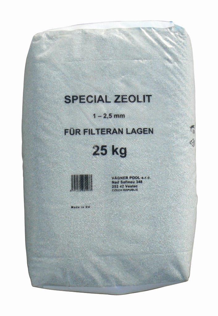 Zeolit -- náplň do filtrů, baleno po 15 kg (= 20 kg filtračního písku)