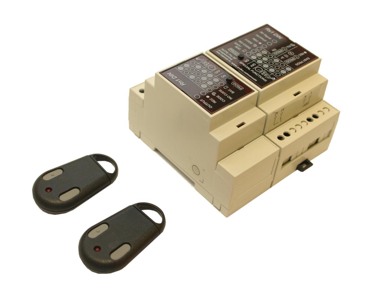 Dálkové spínání dvou-kanálové (tj. dvou zařízení) 2x klíčenka