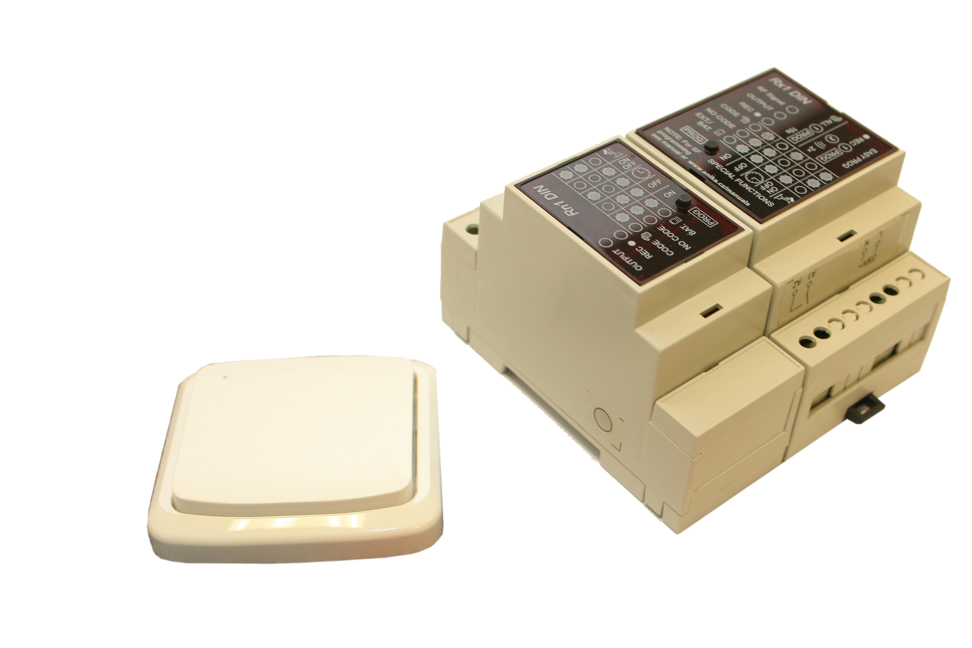Dálkové spínání dvou-kanálové (tj. dvou zařízení) pevný vysílač