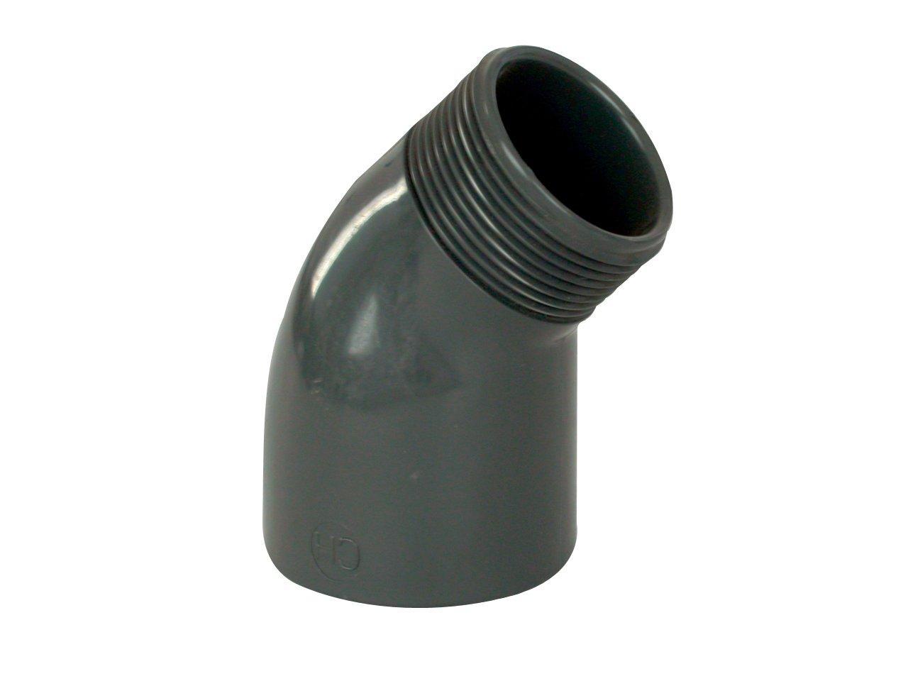 """PVC tvarovka - Úhel 45° 50 x 11/2"""" ext."""