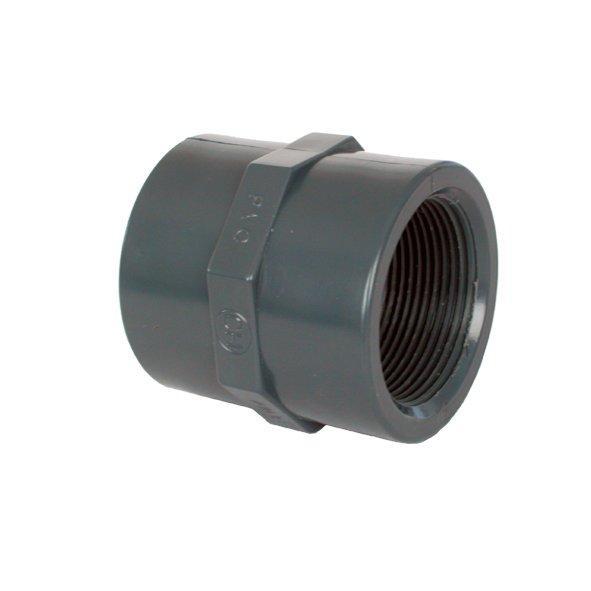 "PVC tvarovka - Mufna 50 x 11/2"""