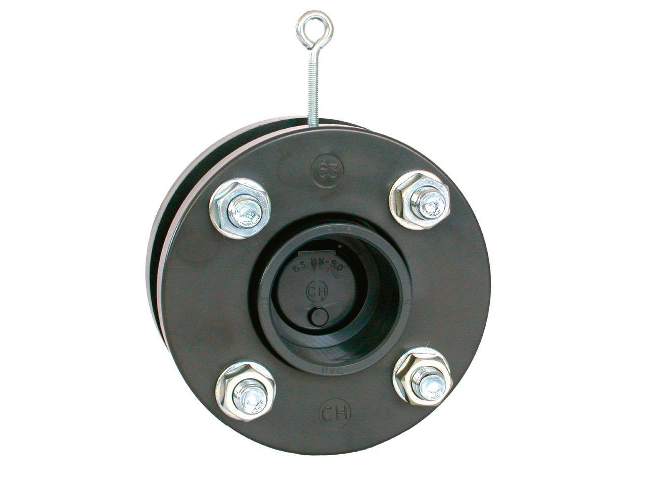 Zpětná klapka s přírubami a s manžetami 63 mm